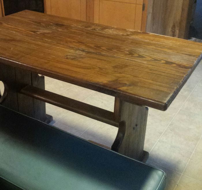 Farm House table with 2 benches