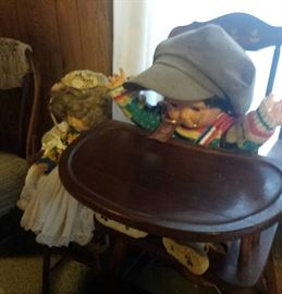dolls, vintage high chair