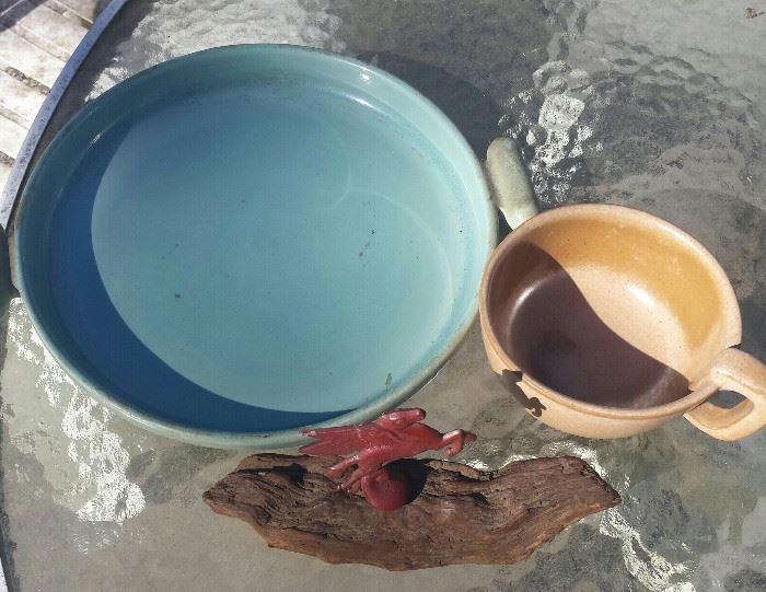 Redwing blue pottery, Frankoma, Mobile Pegasus