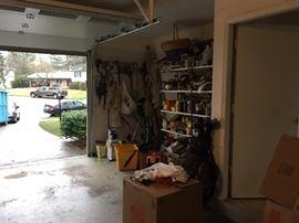 Explore a handyman's garage.