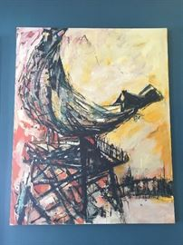 Arnold Herstand mixed media painting
