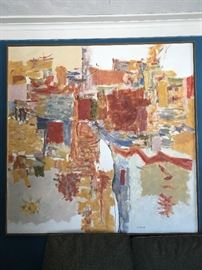 Harry Widman painting on canvas framed.