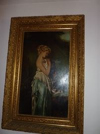 Signed Emma Thompson large painting. Beautifully framed and in perfect condition
