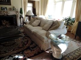 Down filled Henredon sofa. Urn is not for sale