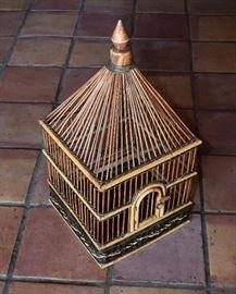 Wood Bird Cage