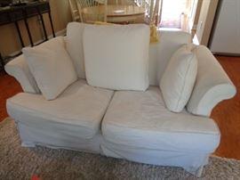 Sofa with custom upholstery