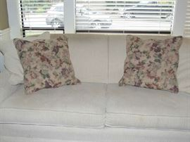 CREAM DESIGNER SOFA IN A SOFT DURABLE CHENILLE/CORDOROY FABRIC FROM NORWALK FURNITURE COMPANY