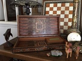 backgammon with mother of pearl inserts