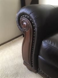 wood trim and nail heads on sofa