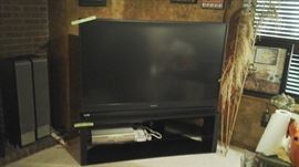 """65"""" tv  the tv stand is very nice too sold separately"""