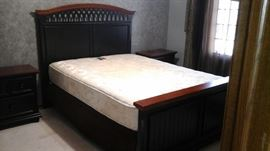 Bedroom suite a queen bed with headboard, 2 end tables and a dresser and mirror. Just wonderful!