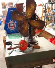 Brass Fan & Mohawk Hand Operated Drill