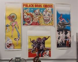 Globe Printing (Chicago) Circus Posters (These were templates from the 1960's)