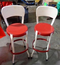 Vintage Metal Kitchen Cafe Chairs