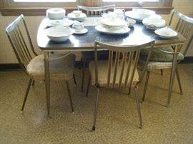 Mid Century Modern Chrome & Formica dining set