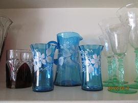 Beautiful antique color glass