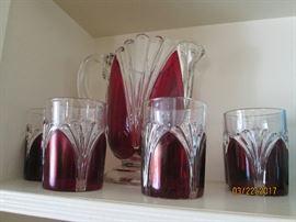 Beautiful ruby glass...pristine!