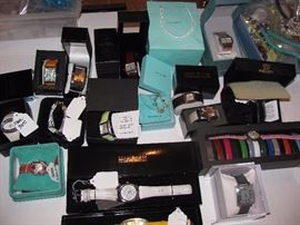 Watches, some are sterling