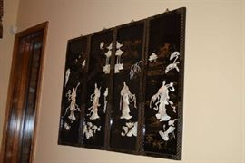 Asian Wall Hanging with mother of pearl