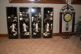 Asian Wall Panels, Wall Clock