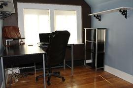 Metal L Shaped Desk w/ Desk Chair