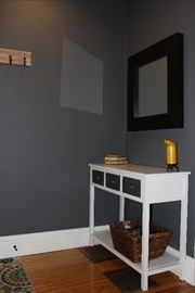Entry Table with Three Drawers and Shelf