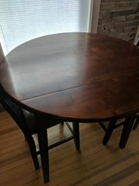 Small Dining Table with Fold Down Sides