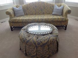 Camel back fabric Sofa / Ottoman