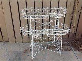 French wire plantstand
