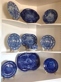 Blue and white including flow blue china
