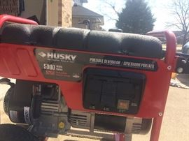 Toro Husky 5000 Watt Generator- runs great, like new! $559.00