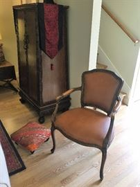 One of two French Provincial Armchairs