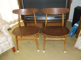 Mid-Century chairs.