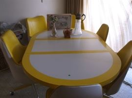 Retro dining room set.