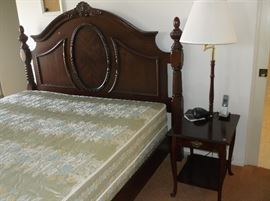King size bed with headboard and footboard.