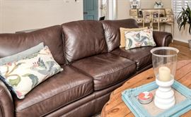 Leather sofa - in great condition!