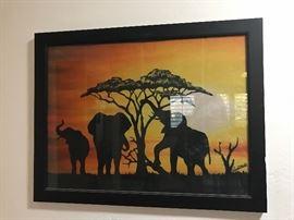 African art on banana cloth