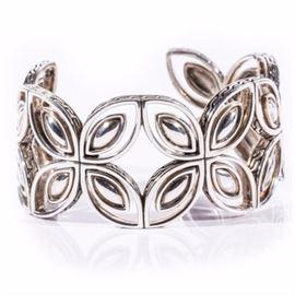 John Hardy Sterling Silver Cuff Bracelet: A sterling silver cuff bracelet by John Hardy.