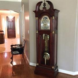 Howard Miller mahogany grandfather clock
