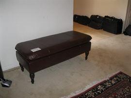 Large  leather Sofa ottoman