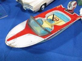 Vintage Tin wind up boat