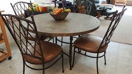 Designer stone table for (4)