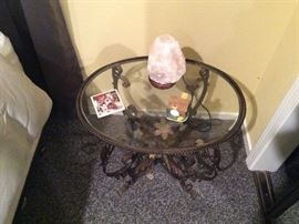 Iron, Glass top decorative table