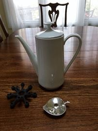Mid Century German Coffee Pot and Danish Candle Holders