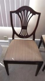 LOVELY DINING CHAIRS X 6 2 WITH ARMS WITH DINING TABLE