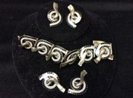 Margot De Taxco Enamel Jewelry Set