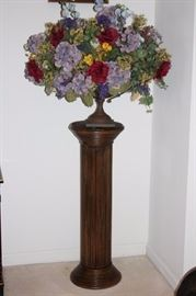 Pedestal and Floral Arrangement