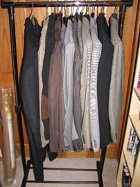 Professional men's clothing beautiful suits size large.