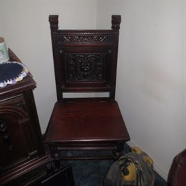 Rare Carved Lion's Chair