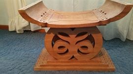 Ashanti handcarved tribal throne one of a pair